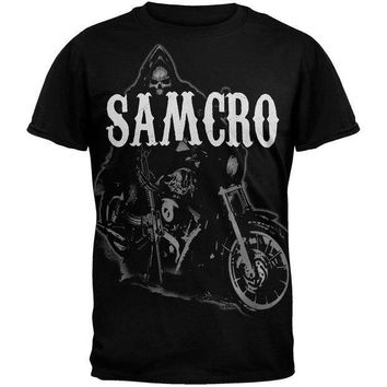 PEAPGQ9 Sons of Anarchy - Reaper on Bike T-Shirt