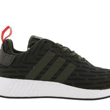 PEAPON ADIDAS NMD R2 DARK GREEN/BLACK/WHITE BY2500 LTD EDITION MEN TRAINER VARIOUS SIZE
