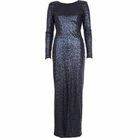Navy sequin open back maxi dress - maxi dresses - dresses - women