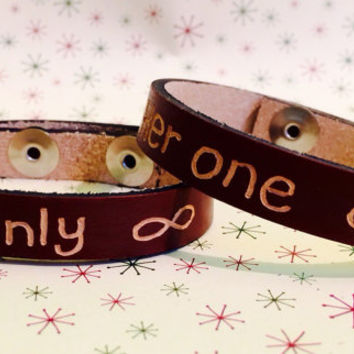 Matching Bracelets For S Personalized Leather Bracelet E