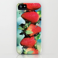 Berry Bokeh iPhone Case by micklyn | Society6