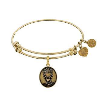 Angelica Collection Brass with Yellow Finish U.S. Air Force Expandable Bangle