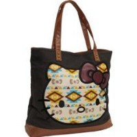 Chick&Stylish - Hello Kitty Santb0612 Tote,Black/Brown,One Size