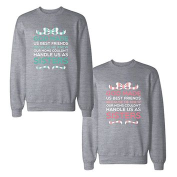 365Printing BFF Matching Sweatshirts Cute Pullover Fleece For Best Friends