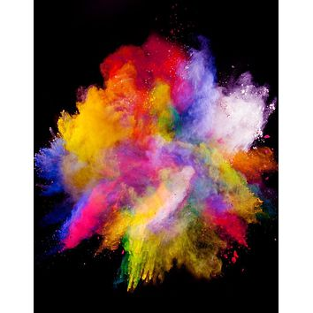 Wall Mural Decal Sticker Burst of Color Powder Abstract #6006