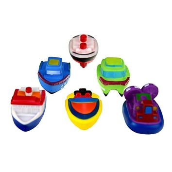 6PCS Rubber Ship With Sound Baby Shower Party Favors Toy Water Toys Baby bathing water toys for children kids