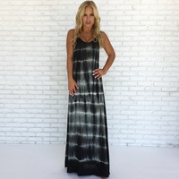 Shockwave Tie Dye Maxi Dress