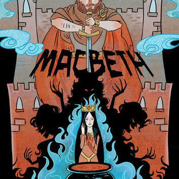 The Scottish Play -- 8x12 Macbeth literature mini poster