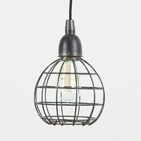 4040 Locust Caged Metal Pendant- Carbon One