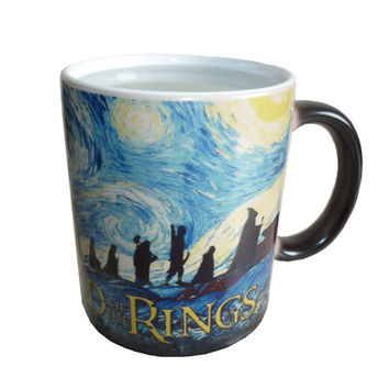 New The Lord of The Rings Coffee Mug Mark Color Changing Cup Sensitive Ceramic Tea La Copa Friends Gift