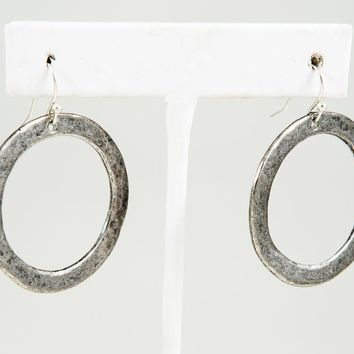 Circle Earring, Medium - Gold or Silver