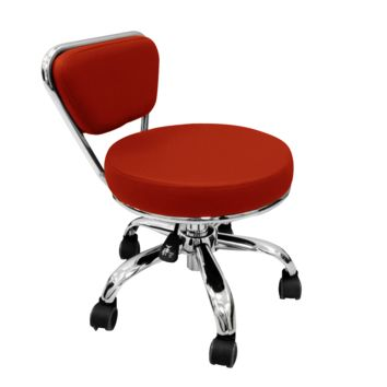 """DAYTON SPA Salon Nail Stool Pedicure Chair """"RED FIRE"""" Pneumatic and Adjustable"""