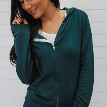Way To My Heart Sweatshirt - Forest Green