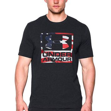 Under Armour USA dom BFL Men's T-Shirt - BLACK/DARK GRAY/GRAY - XL/Large/Med