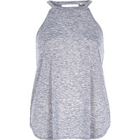 River Island Womens Grey marl neppy sleeveless top