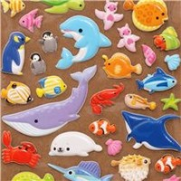 cute 3D sponge sticker book set with sea animals - Sticker Sheets - Sticker - Stationery