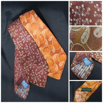 2 Vintage ties Jordan Booth from Shreveport Swing NeckTies 1940s ( 47-48 inches long)