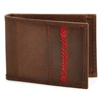 Men's Rawlings 'The Arch' Front Pocket Wallet - Brown