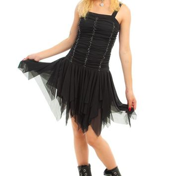 Vintage 90's Black Swan Fairy Dress - XS