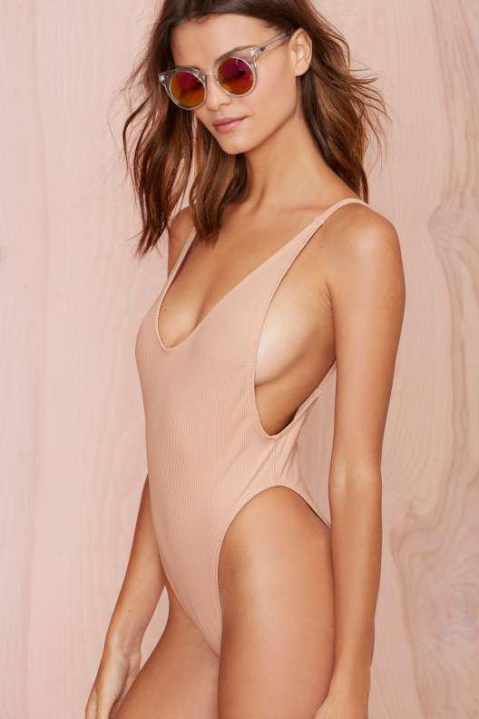 776565bb98c989 Nasty Gal Alina Swimsuit - Blush from NASTY GAL