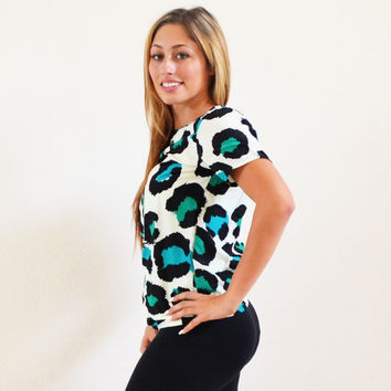 Short Sleeve Leopard Shirt