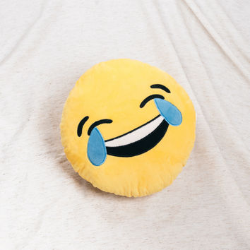 Laughing Emoji Throw Pillow