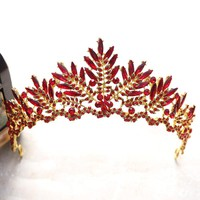 Red Tiaras And Crowns Bridal Rhinestone Pageant Cosplay Renaissance
