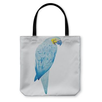 Tote Bag, Macaw Bird Watercolor Painting