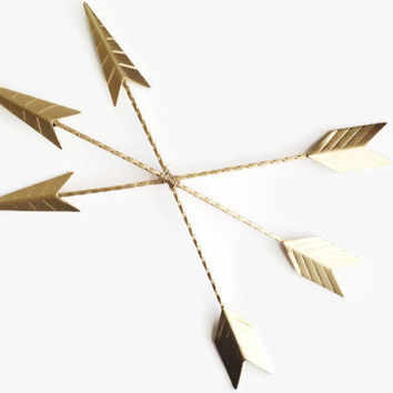 Arrows Wall Decor. Gold Arrow Art. Painted Arrows. Trendy Home Decor. Arrow Nursery Decor. Metal Wall Art. Metallic Arrows
