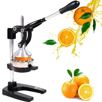 Goplus Hand Press Manual Fruit Juicer Juice Squeezer Citrus Orange Lemon New