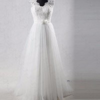 Elegant A - Line Lace Wedding Dress