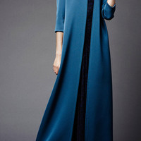 Double Face Bonded Crepe Long Coat by Zac Posen - Moda Operandi