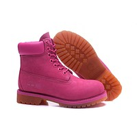 Timberland Women purple 6 Inch Premium Honeycomb Breathable Boots