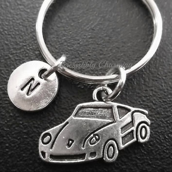 Sale...Race car, sports car keyring, keychain, bag charm, purse charm, monogram personalized item No.609