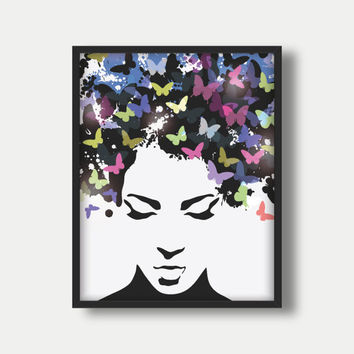 Hair Wall Art, Hair Prints, Hair Poster, Girl Hair Wall Art, Girl Hair Prints, Girl Hair Poster, Salon Wall Art, Salon Prints, Salon Poster