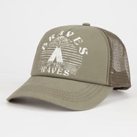 Billabong Good Vibe Womens Trucker Hat Olive One Size For Women 26538653101