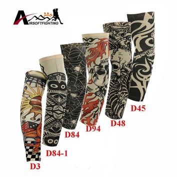 Skull Skulls Halloween Fall Nylon Stretchy Sunscreen Arm Sleeves Breathable  Skeleton Cuff Sleeves Cycling Hiking Running UV Protective Arm Stockings Calavera