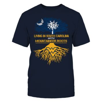West Virginia Mountaineers - Living Roots South Carolina - T-Shirt - Officially Licensed Fashion Sports Apparel