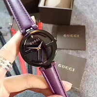 Tagre™ GUCCI Fashion Simple Leather Strap Wristwatch Watch