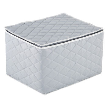Grey Quilted Wine Glass Storage Case