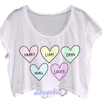 Bubblegum One Direction Crop Top