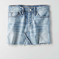 AEO Vintage Hi-Rise Mini Skirt, Blue