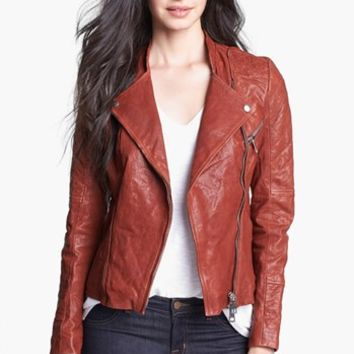 Kenna-T Stand Collar Moto Jacket (Petite) | Nordstrom