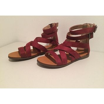 Microsuede Gladiator Sandals