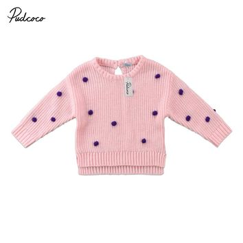 Autumn Winter Baby Girls Sweaters Children Long Sleeve Knitted Clothes Kids Coat For Girls