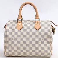 LOUIS VUITTON Speedy 25 Handbag Damier Azur N41534