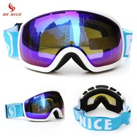 BENICE SNOW-2706 Men Women Skiing Goggles Anti-fog Big Ski Mask Glasses Skiing Snow Snowboard Strap Skating Goggles UV400
