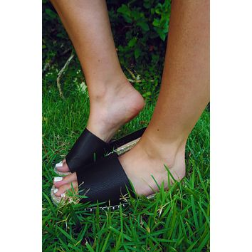 Let's Have Some Fun Sandals: Black