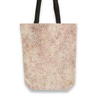 'Iced coffee and white swirls doodles' Tote Bags by Savousepate on miPic