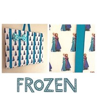 Frozen Elsa and Anna bow holder medium from Bowlicious Divas Bowtique